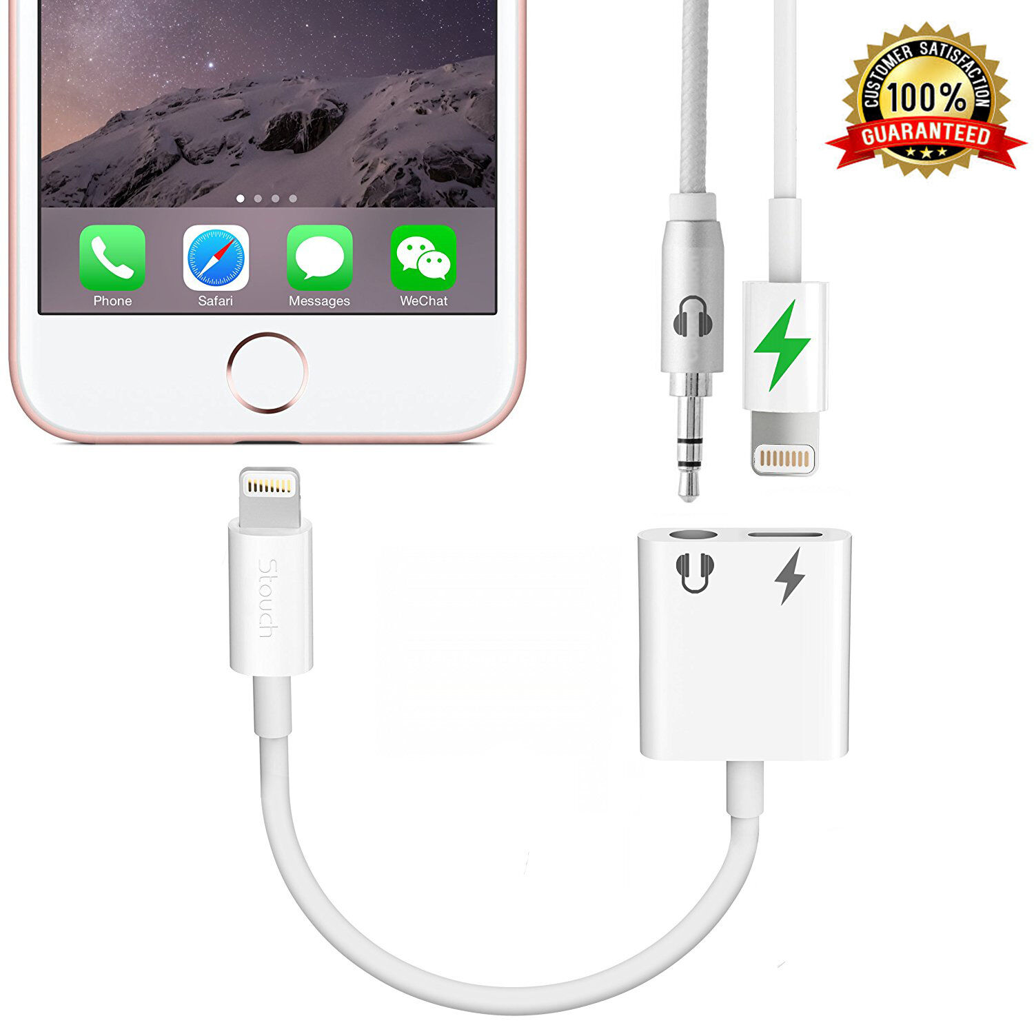 Apple iPhone 7 Plus Audio Earphone Adapter Charger Port AUX