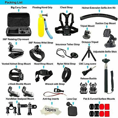 50pcs Go Pro Action Sports Camera Accessories Kit Set For GoPro Hero...