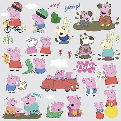 PEPPA PIG 28 Wall Decals Room Decor Stickers Bedroom Decorations George - Peppa Pig Room Decor