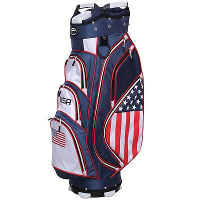 New Hot-Z Golf 2018 USA Flag Cart Bag
