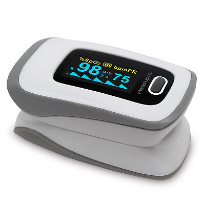Measupro Ox250 Instant Read Finger Pulse Oximeter Blood Oxygen Spo2  Us Seller