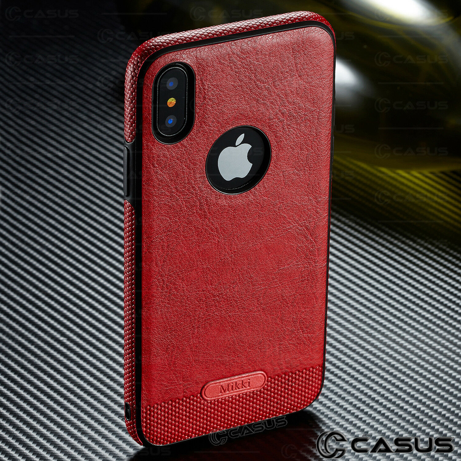 SLIM Luxury Leather Back Ultra Thin TPU Case Cover for iPhone X & 8/7/6s Plus
