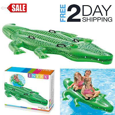 Inflatable Giant Gator Children Ride On Toy Floating Alligator Kids Pool Play ()