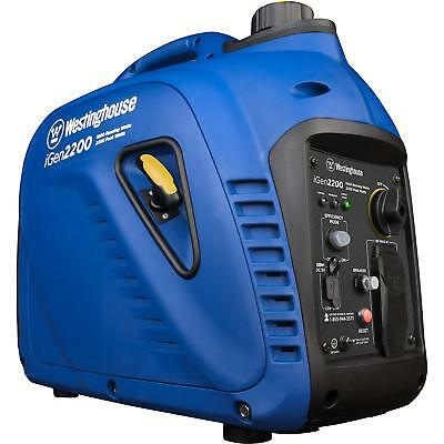 Westinghouse 2200-w Quiet Portable Gas Inverter Generator Home Backup Rv Camping