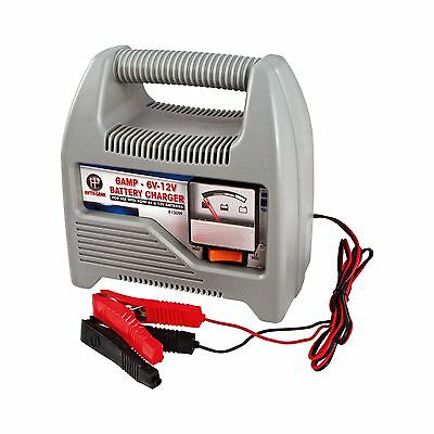 12v Heavy Duty 6Amp Portable Compact Vehicle Car Van Bike Truck Battery Charger