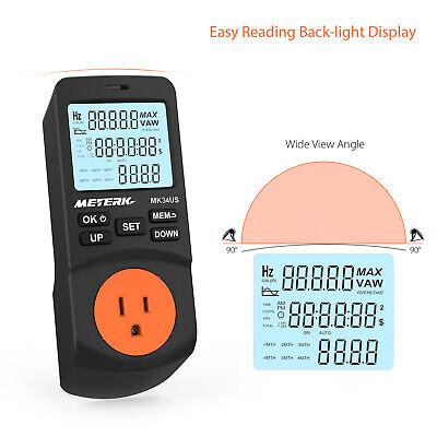 Digital Meterk Power Watt Meter Plug-in Lcd Timer Electricity Energy Tester K4q5