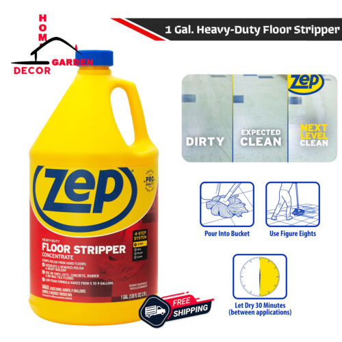 Heavy Duty Floor Stripper 1 Gallon Concentrate Wax Remover Cleaner Ammonia Free