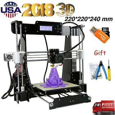 P802M Upgrade Accuracy 3D Printer  A8 MK8 DIY Kit Reprap i3 LCD w/Gifts EK