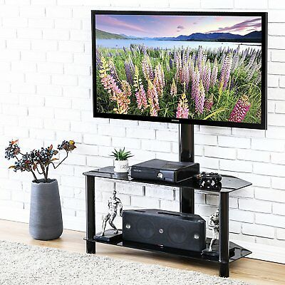 """Glass Tv Stand Media Entertainment Center 32""""-55"""" Inch Flat Screen Television"""