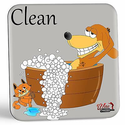 Dish Doggy Clean Dirty Dishwasher Magnet Sign - A Fun  Stylish Clean Dirty