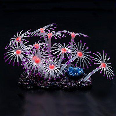 Glowing Effect Artificial Coral Plant for Fish Tank, Decorative Aquarium