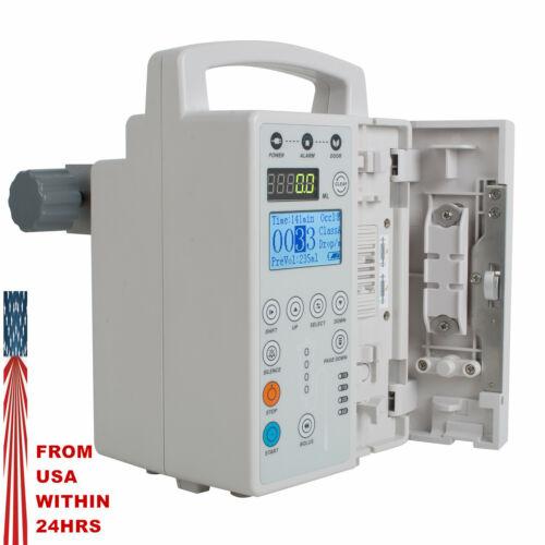 Medical IV Fluid Infusion Pump Audible Visual Alarm Veterinary Human syringe USA