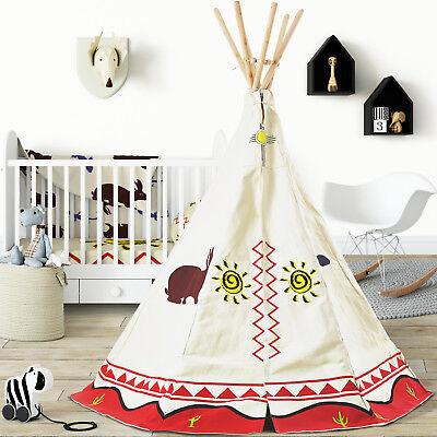 Teepee Wigwam Play Tent 100% Cotton Large Children's Tipi Indoor Outdoor Kids