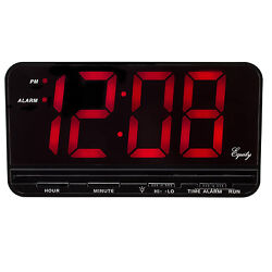 30401 Equity by La Crosse Large 3 LED Digital Alarm Clock with High/Low Dimmer