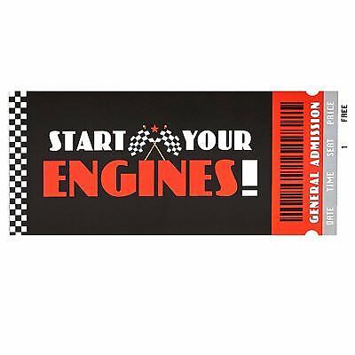 Race Car Invitations (Racecar Race Car Start Engines Racing Sports Theme Birthday Party)