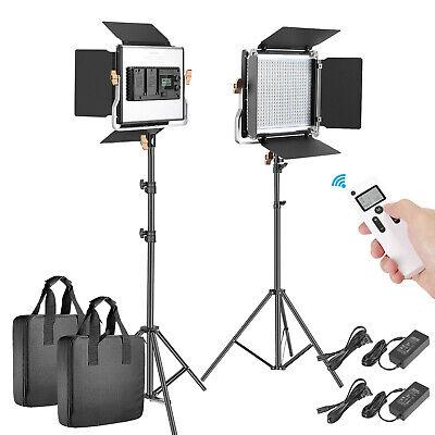 2 Packs Advanced 2.4G 480 LED Video Light Photography Lighting Kit for Portrait