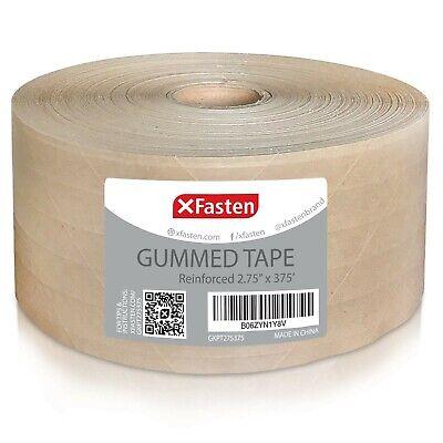 Xfasten Gummed Kraft Paper Packing Tape 2.75 Inches X 375 Feet