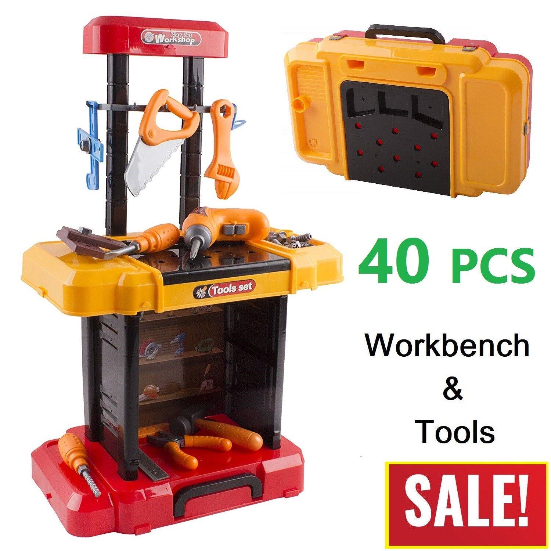 Toddler Boy Toy Children Workbench Tool Set Construction Lea