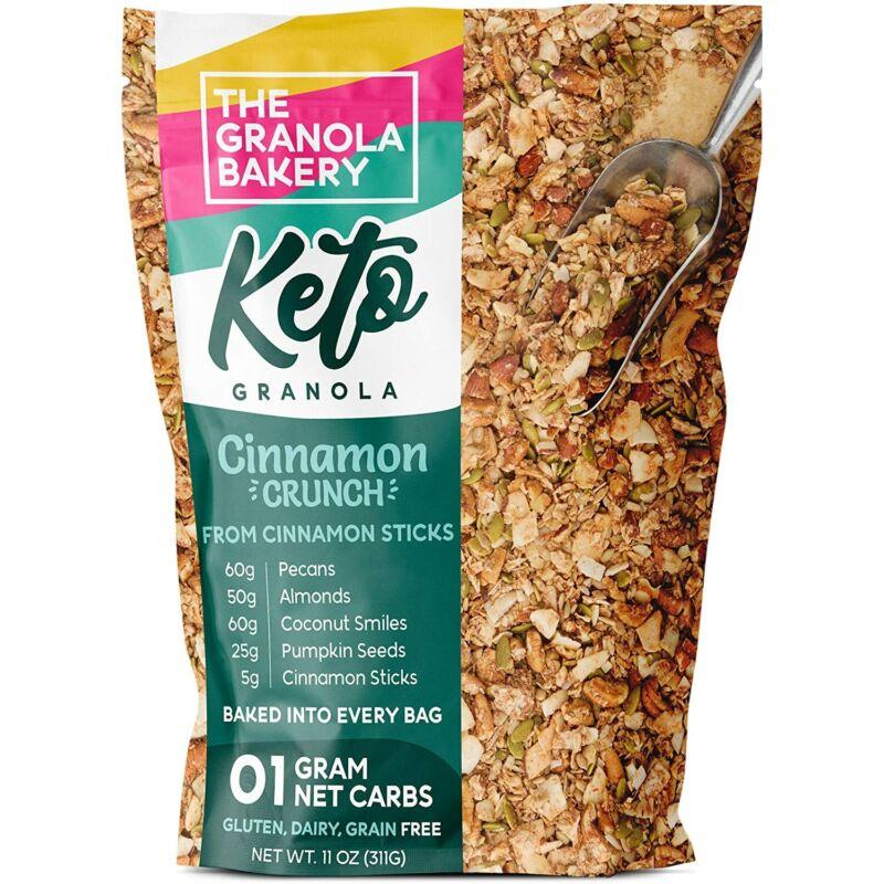 TGB Cinnamon Pecan Keto Granola   1g Net Carb Snack   Low Carb Nut Cereal