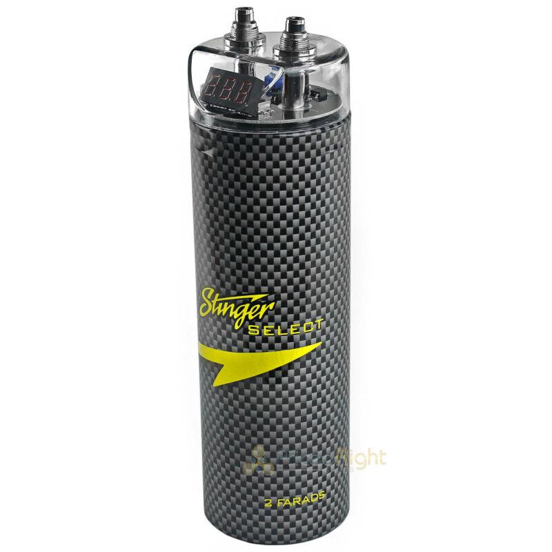 Stinger 2 Farad Capacitor Select SSCAP2M 2000 Watts Power 12V Car Digital Power