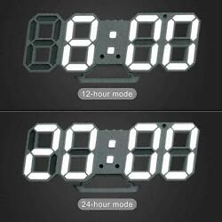 16inch Remote Control Large LED 3D Digital Wall Clock W/ Timers Temperature Date