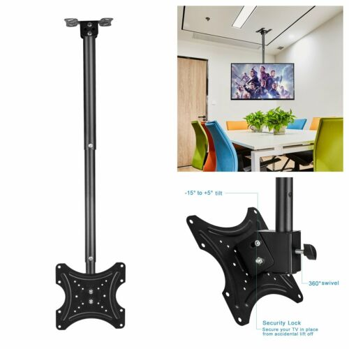 Swivel&Tilt Ceiling TV Mount Flat Bracket 14 18 24 27 30 32
