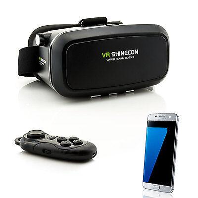 3D VR Brille Virtual Reality für Samsung Galaxy S6 S7 Edge S8 + S9 + Controller