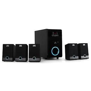 5.1 SURROUND HEIMKINO AKTIV LAUTSPRECHER SET BOXEN ANLAGE SUBWOOFER SOUND SYSTEM