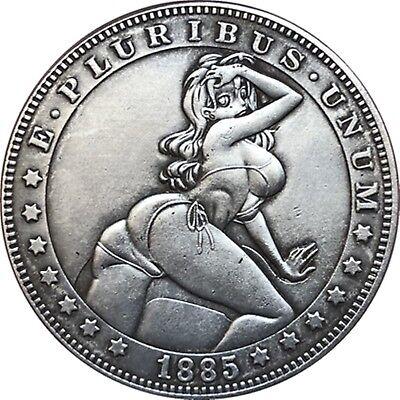 Hobo Nickel  1885-CC USA Morgan Dollar Curvy Girl COIN