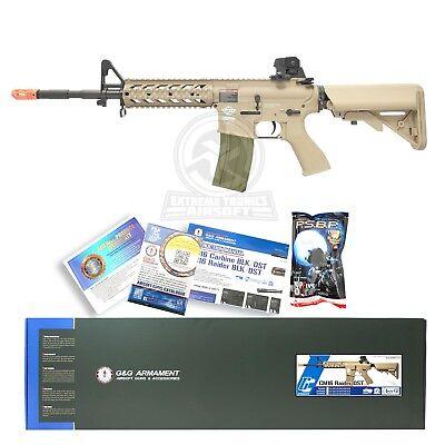 Used, G&G CM16 Combat Machine Raider Long Airsoft RIS M4 M16 AEG Rifle Gun Tan  for sale  South El Monte
