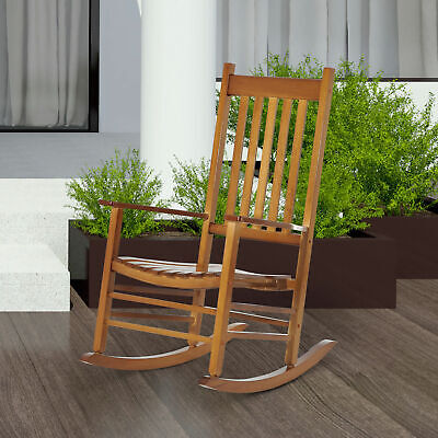 Porch Rocking Chair Solid Wood Home Traditional Bench Furniture Outdoor ()