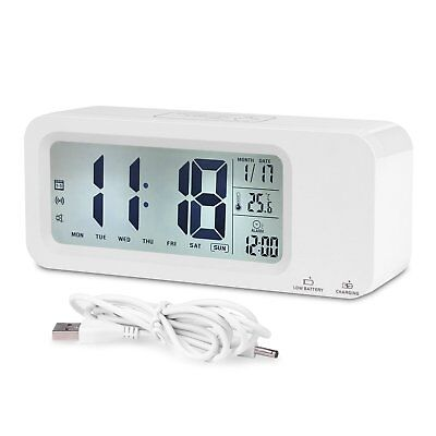 Digital Alarm Clock, Relohas Rechargeable Talking Clock with 3 Alarm Groups,