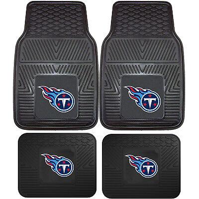 NFL Tennessee Titans Car Truck Rubber Vinyl Heavy Duty All Weather Floor Mats