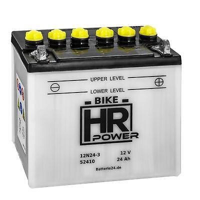 Rasentraktor Batterie Aufsitzmäher 12V 24Ah 12N24-3 52410 Starterbatterie