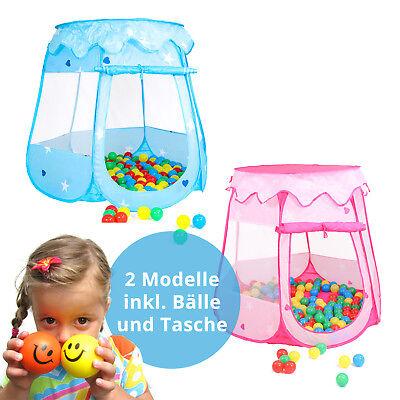 Bällebad Babyzelt Spielhaus Spielzelt + 100 Bälle + Tasche (Kinder Zelte)