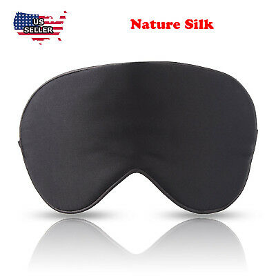 Silk travel Sleep Eye Mask Cover Padded Blindfold Soft Silky Relax Comfortable