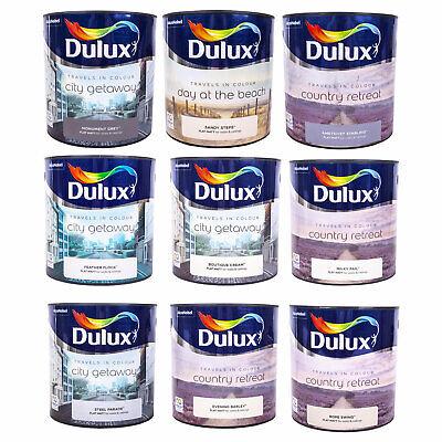 Dulux Flat Matt Home Walls & Ceilings 2.5L Emulsion Interior Paint - ALL COLOURS
