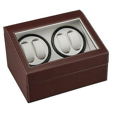 Leather Watch Winder Storage Display Case Box 4+6 Slots Automatic Rotation