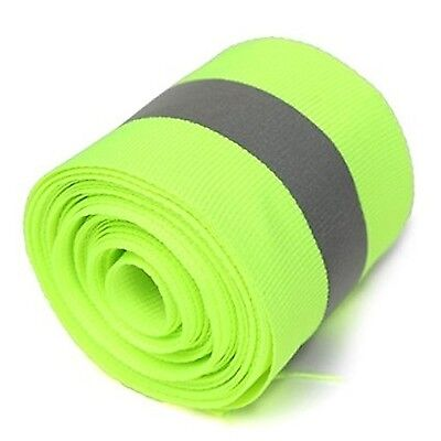 Actopus 10ml 5x1.5cm Lime Green Reflective Safety Sew On Fabric Tape Vest T...