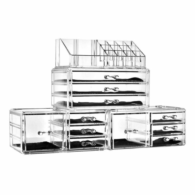 11 Drawers Clear Acrylic Tower Rack Organizer Cosmetic Jewelry Storage Shelf