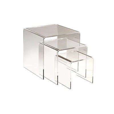 3pc Clear Acrylic Riser Set Of 3 Displays 3 45 Retail Jewelry Display Stands