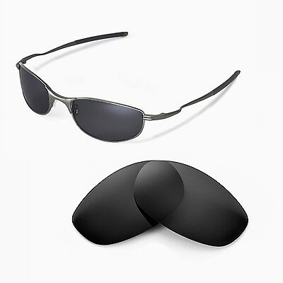 Walleva Polarized Black Replacement Lenses For Oakley Tightrope (Oakley Tightrope Sunglasses Replacement Lenses)