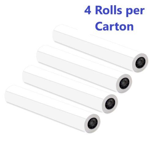 Alliance CAD Paper Rolls 18x150x2, 92 Bright, 20lb. 4 Rls/Ctn Ink Jet Bond Rolls
