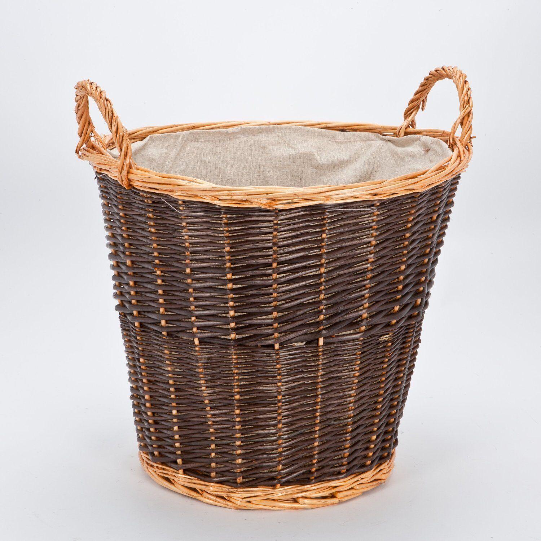 wicker toy storage box holder fireplace log basket laundry. Black Bedroom Furniture Sets. Home Design Ideas