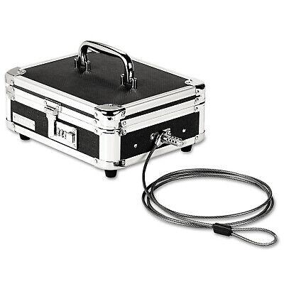 Security Safe Lock Box Fireproof Waterproof Cash Steel Lock Box Black Chrome