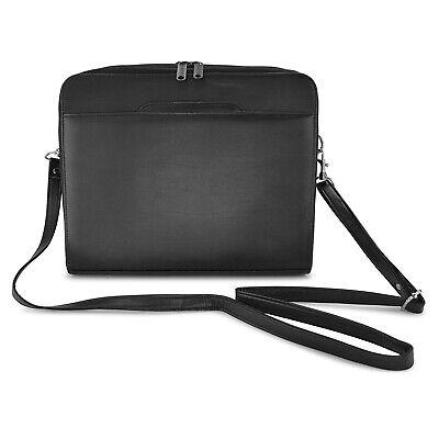 Leatherette 3-ring Binder Folder Portfolio Organizer Planner Briefcase Handle