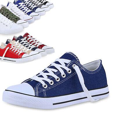 Herren Damen Sneaker Low Canvas Turnschuhe Schnürer Freizeit Schuhe 811077 Top Canvas Low Top Sneaker