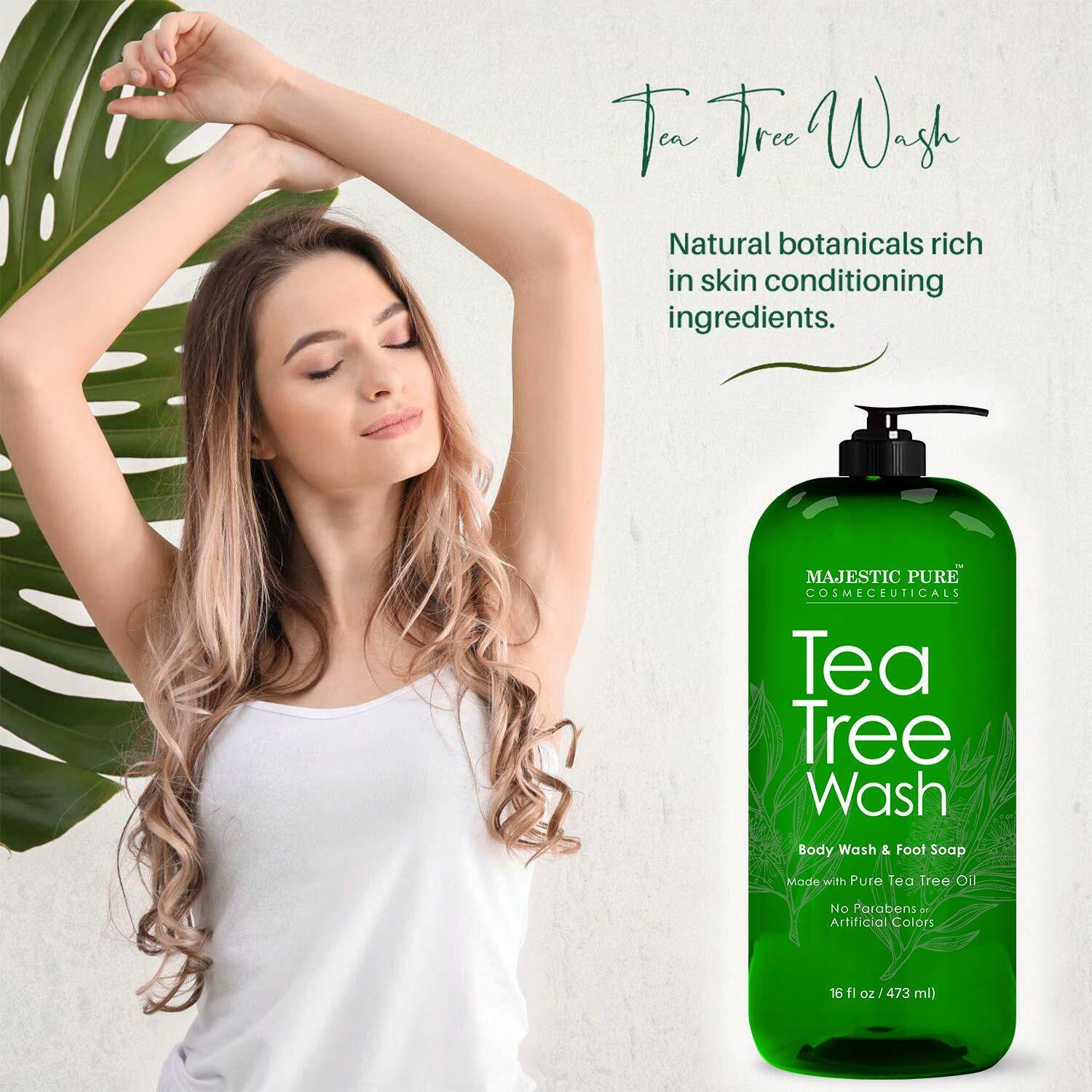 Tea Tree Body Wash - Formulated to Combat Dry, Flaky Skin -