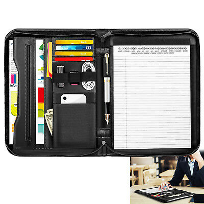 Moko Professional Business Leather Resume Organizer Padfolio Portfolio Folder