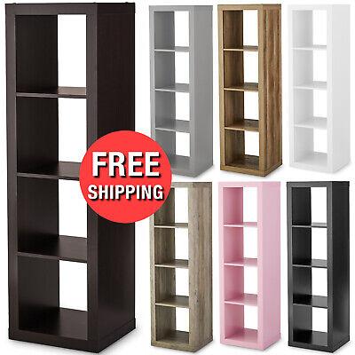 4 Cube Bookcase Bookshelf Storage Shelves Organizer Room Display Divider
